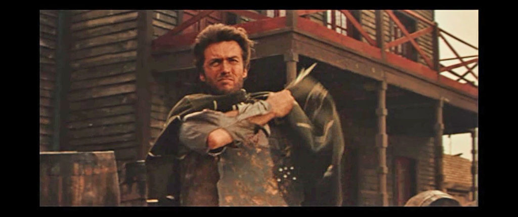 "From the movie ""A Fistful of Dollar"" - The iron plate was hidden under the poncho!"