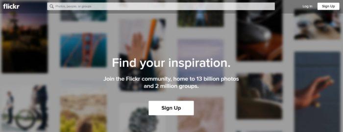flickerのホームページ