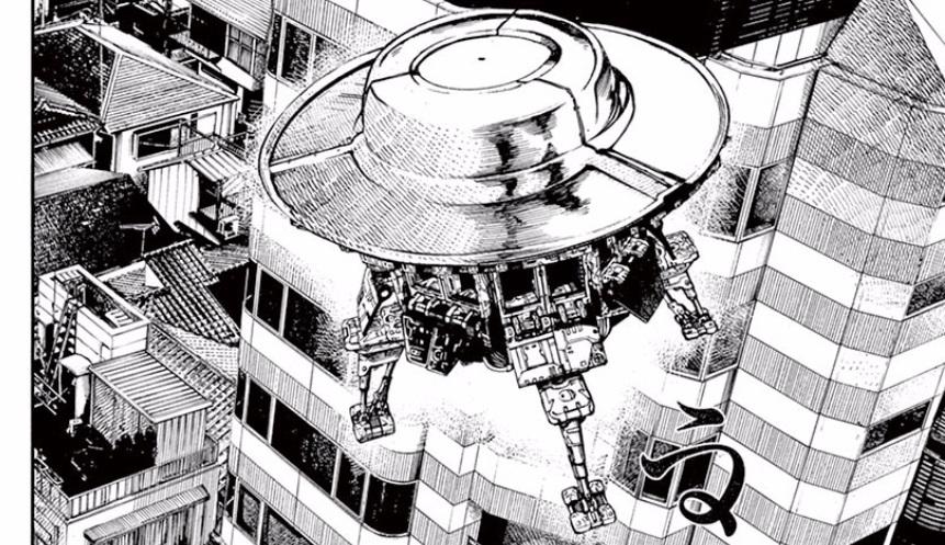 灰皿とブロックトイを元にしたUFOのデザイン