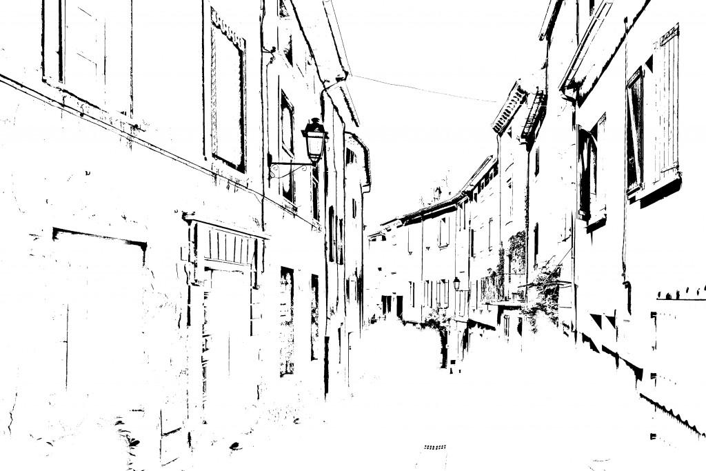 「線画2」レイヤー:ハイパスの完成図